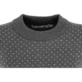 Icebreaker W's Waypoint Crewe Sweater Char Heather/Steel Heather